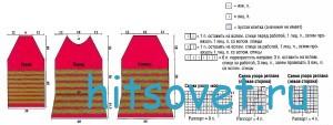 Вязание двухцветной кофточки, схемы.