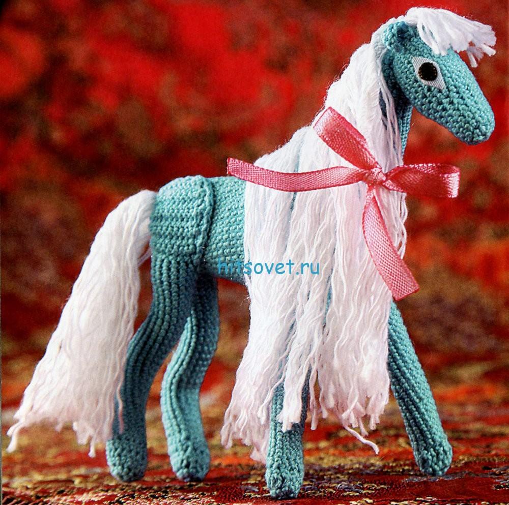 Вязаная лошадка описание