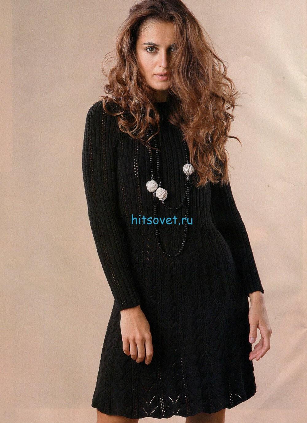 Вязание черного платья