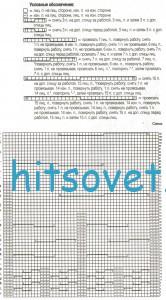 Схема вязания пуловера с разрезами