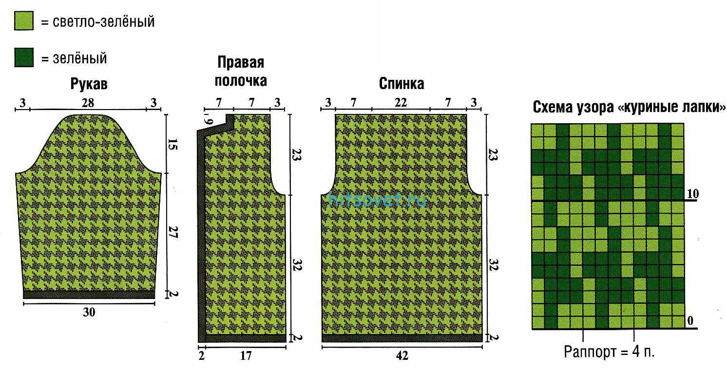 Двухцветное платье и жакет, схема 2.