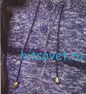 Вязание для девочки меланжевого кардигана, фото 3.