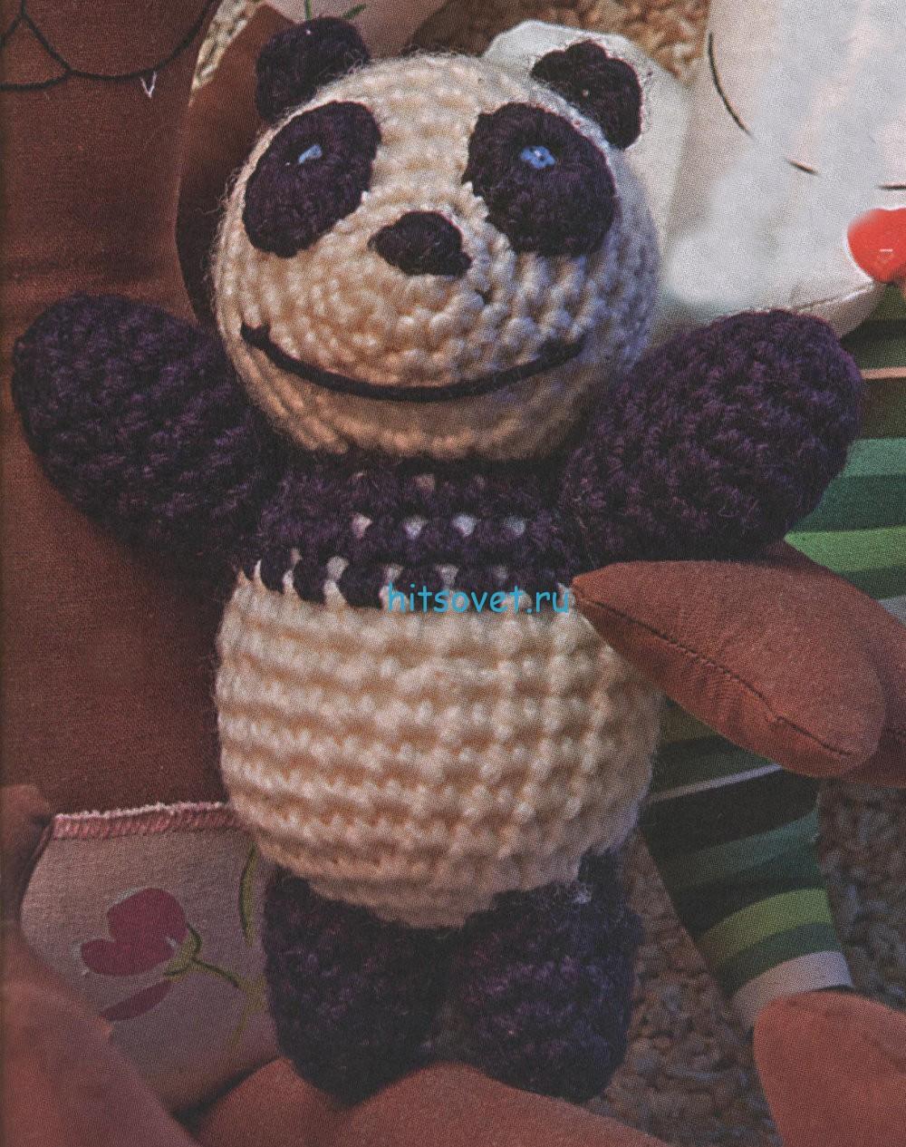Вязаный мишка панда