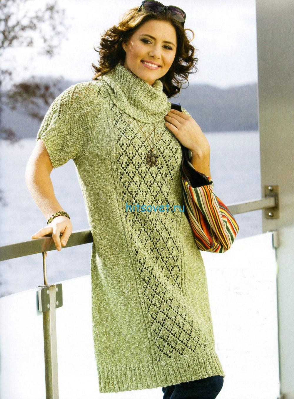 Вязание свободного платья