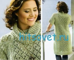 Вязание свободного платья, фото 2.