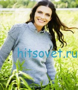 Вязание пуловера с рукавами реглан