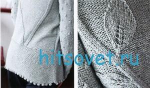 Вязание пуловера с шишечками, фото 2.