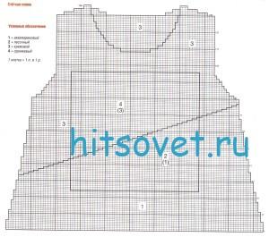 Схема вязания ажурного пуловера