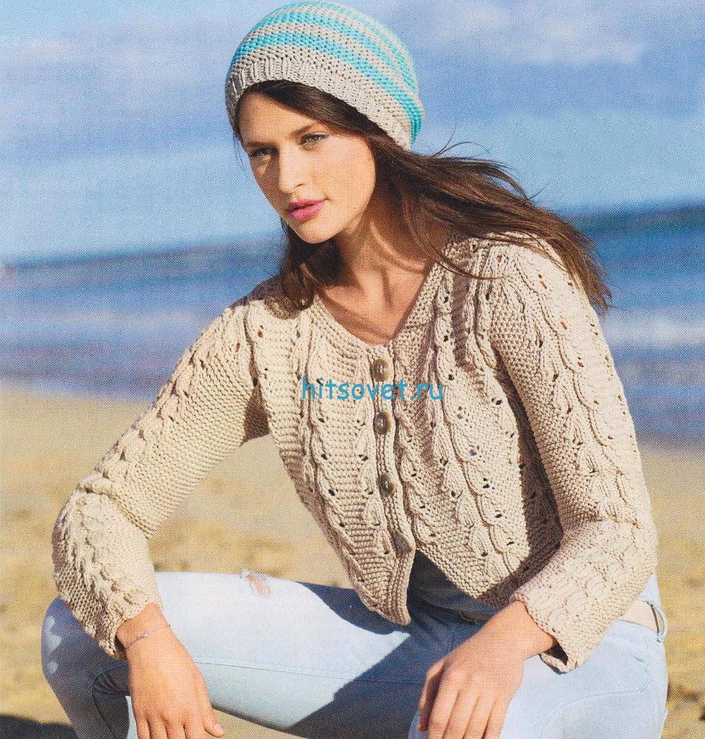 Вязание жакета и шапочки