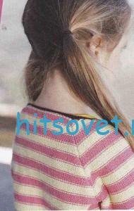 Вязание для девочки жакета