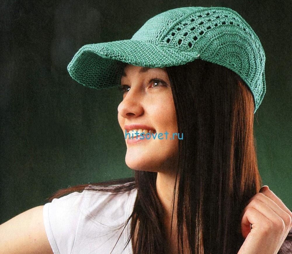 Вязание кепки крючком схема