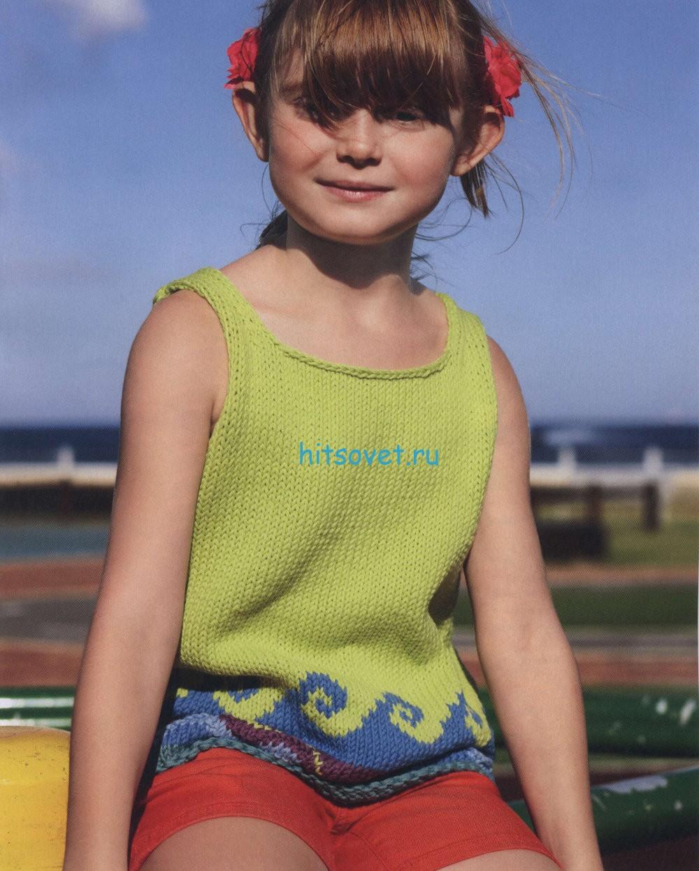Вязание для девочки топа