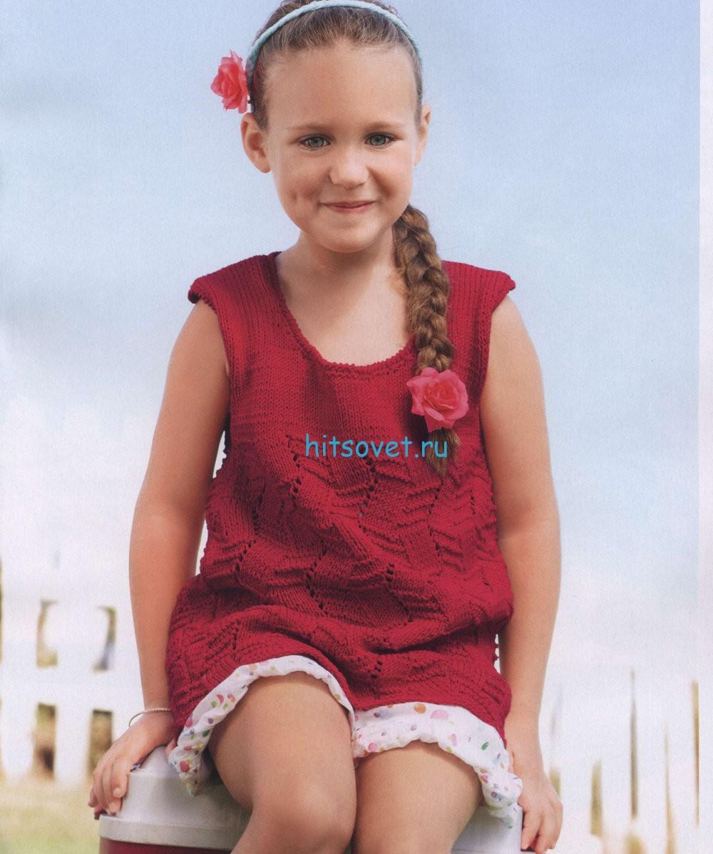 Вязание туники для девочки