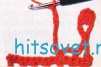 вязание бахромы рисунок 1.