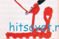 Вязание бахромы рисунок 3.