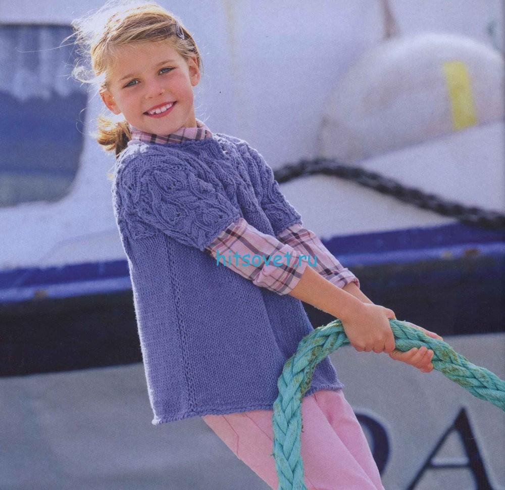 Вязание для девочек туники спицами