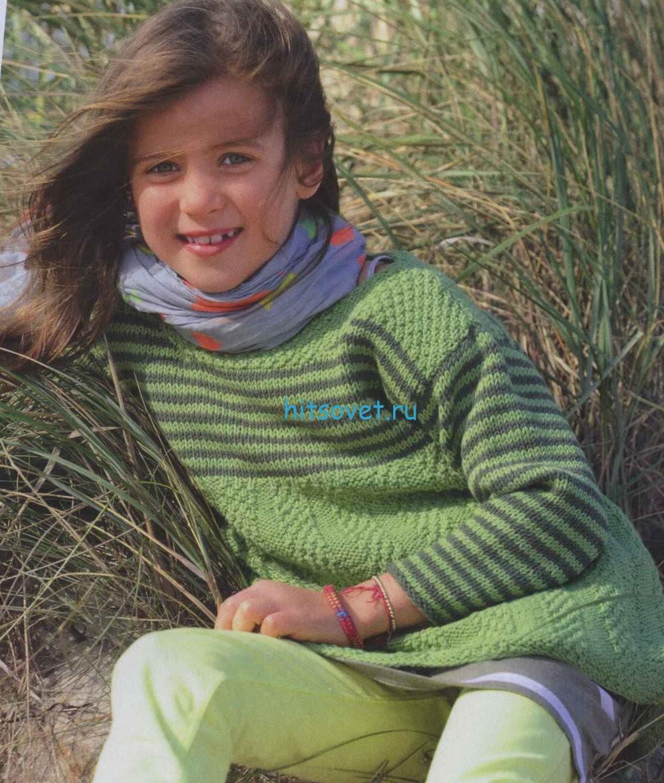Вязание для девочек туники