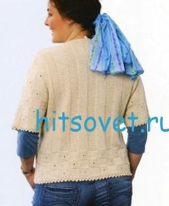 Вязание жакета для полных женщин, фото 2.