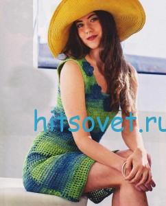 Вязаное платье крючкм