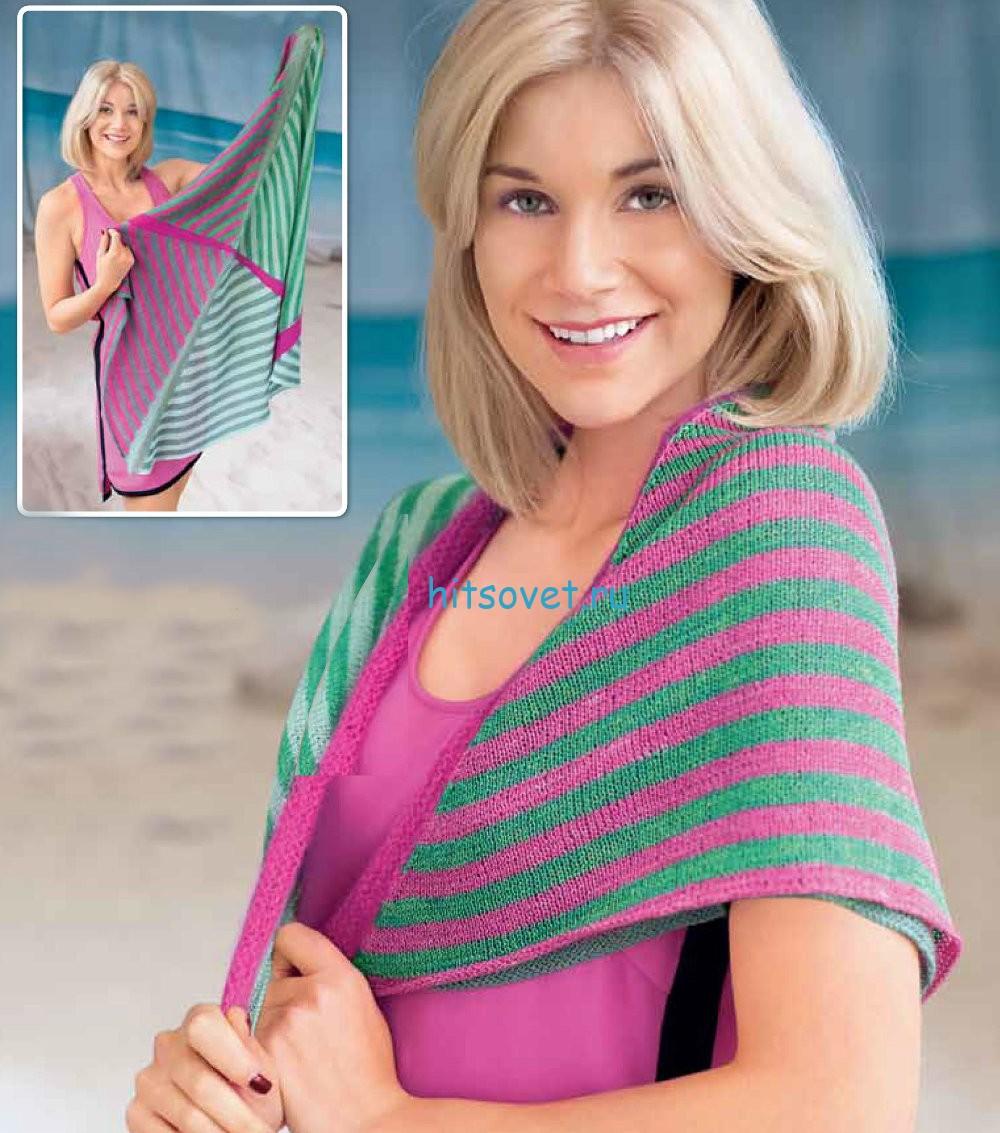 Вязание шелкового платка спицами