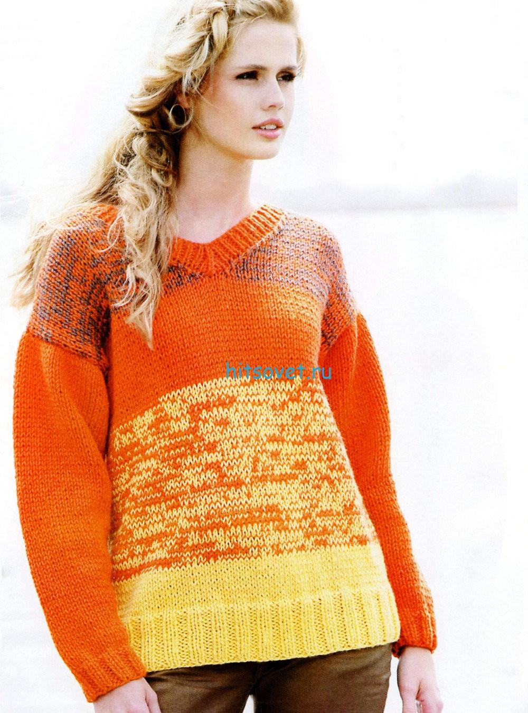 Вязание пуловера спицами для начинающих