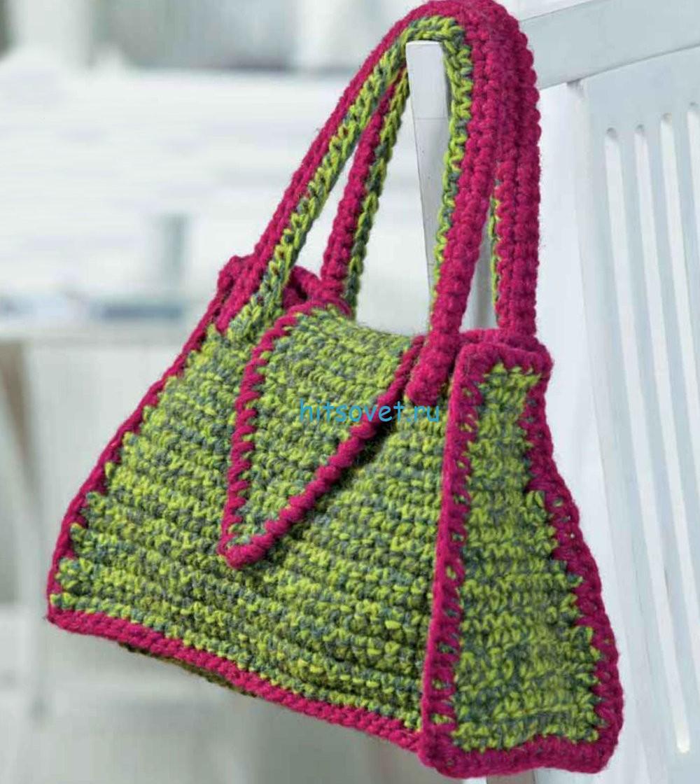 Вязание сумки крючком, фото 2.