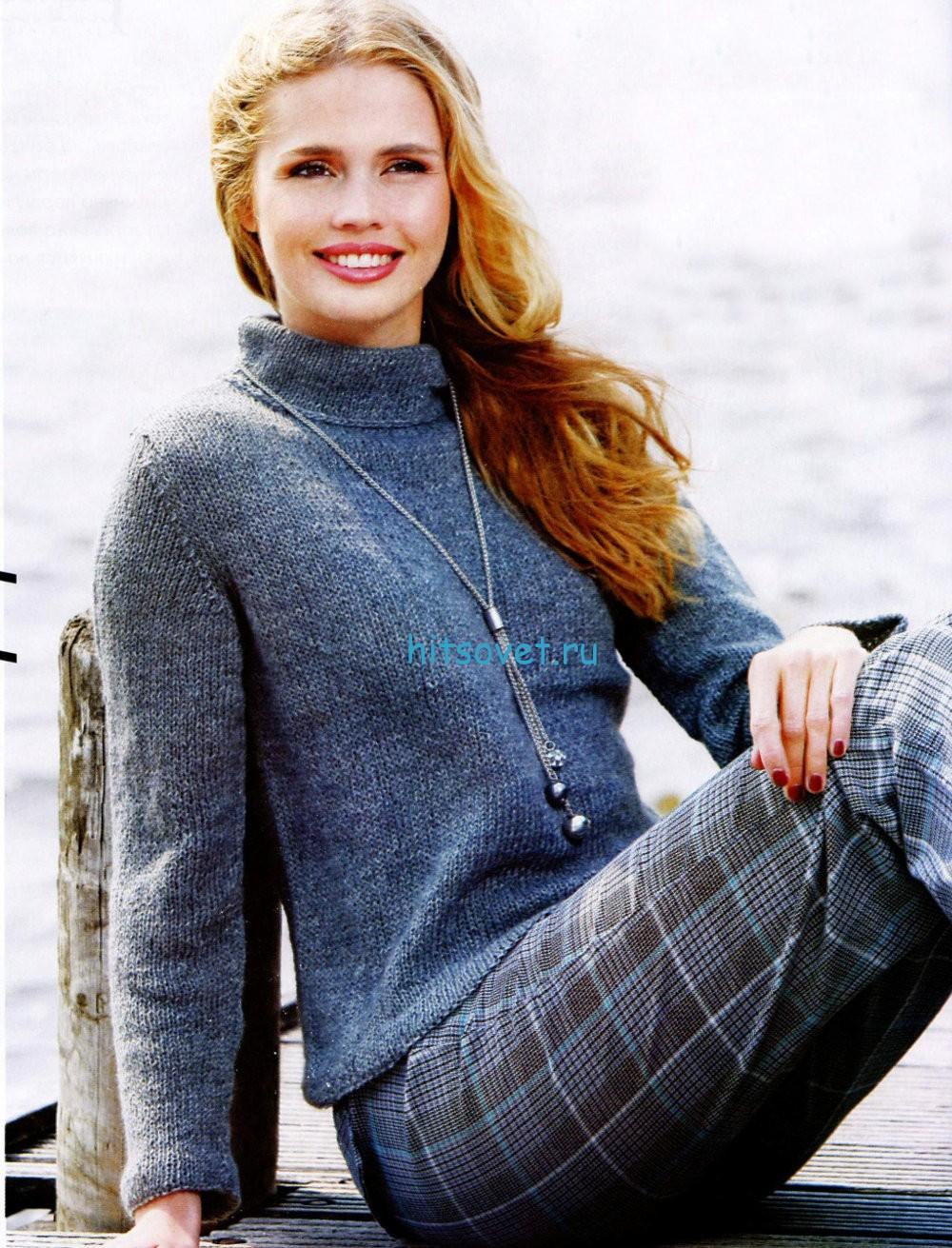 Вязание свитера из тонкой пряжи, фото.