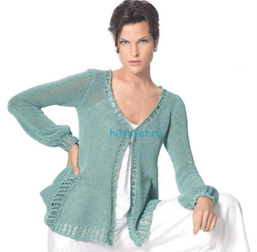 Вязание жакета с карманами
