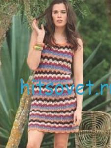 Вязание платья крючком, фото 2.