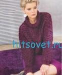 Вязание пуловера из разной пряжи