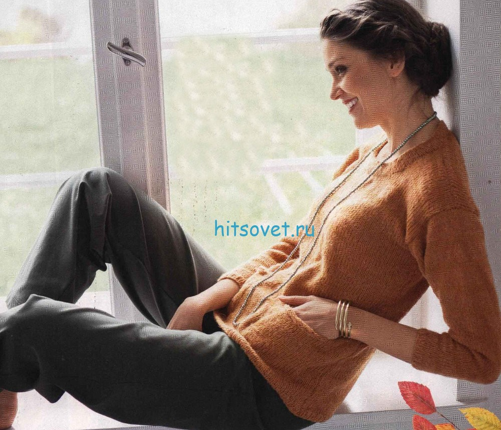 Вязание женского пуловера для начинающих