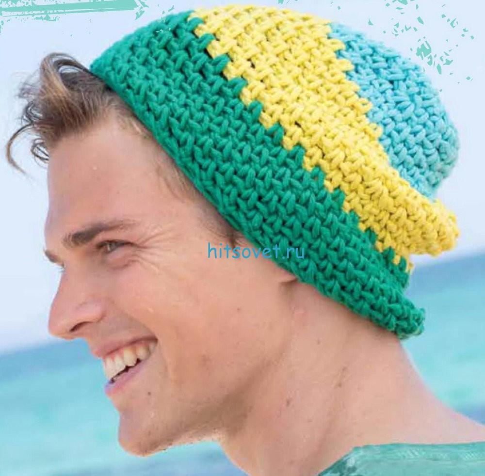 Вязание шапки крючком