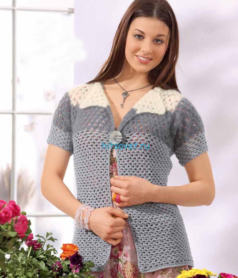 Вязание жакета крючком для женщин