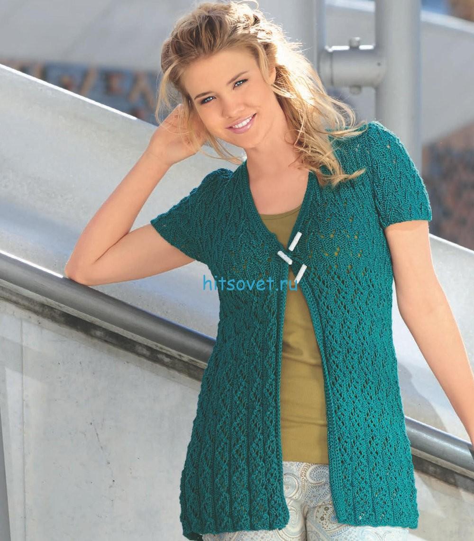 Вязание жакет безрукавка