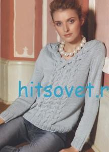 Вязание пуловера с косами из пряжи Schulana