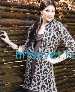 Кардиган с леопардовым узором