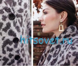 Вязание кардигана с леопардовым узором, фото 2.