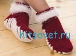 Вязание носков с массажной подошвой