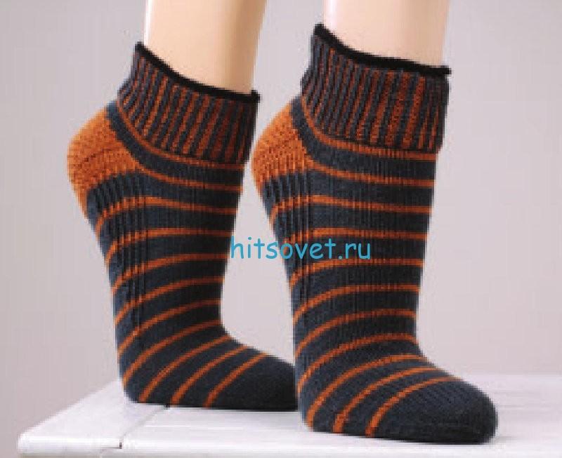 Вязание носков спицами с укрепленной пяткой