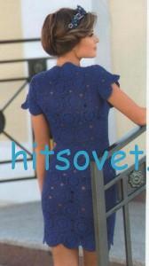 Вязаное из мотивов платье крючком, фото 2.