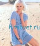 Вязаное мини платье крючком