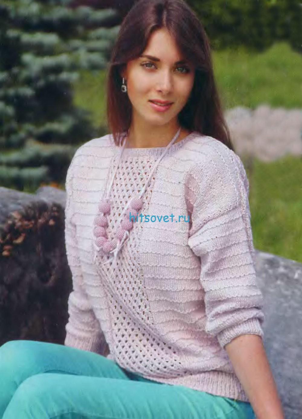Вязание женского пуловера