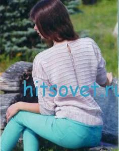 Вязание женского пуловера, фото 2.