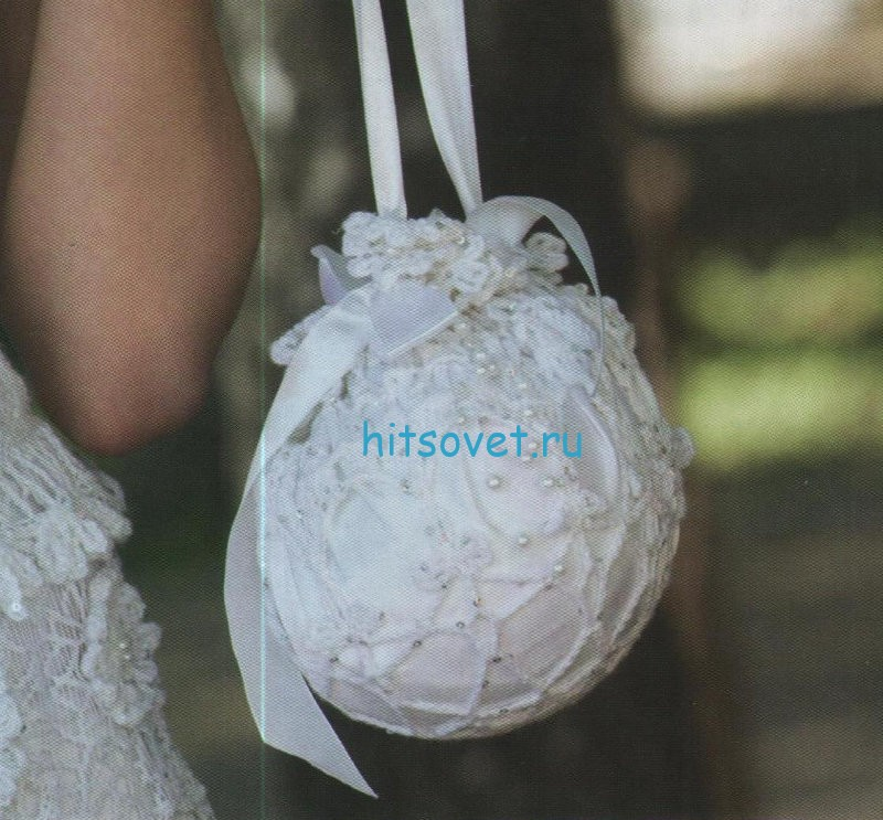 Свадебная сумочка и перчатки крючком