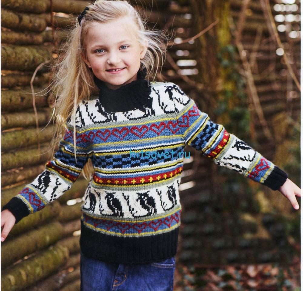 Вязание для девочки 6 - 12 лет свитера