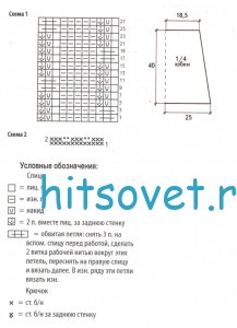 Схема вязаной юбки