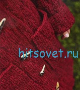Вязаное пальто с капюшоном, фото 3.