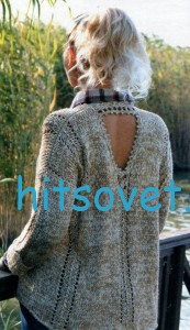 Вязание свободного женского пуловера, фото 2.