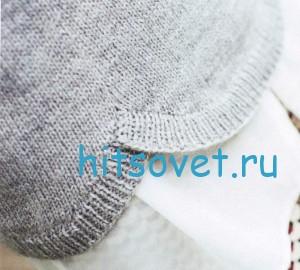 Пуловер с фестонами