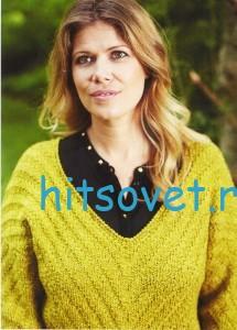 Вязание пуловера рельефным узором. фото 2.